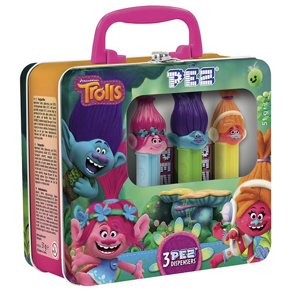 PEZ Trolls Tin Suitcase