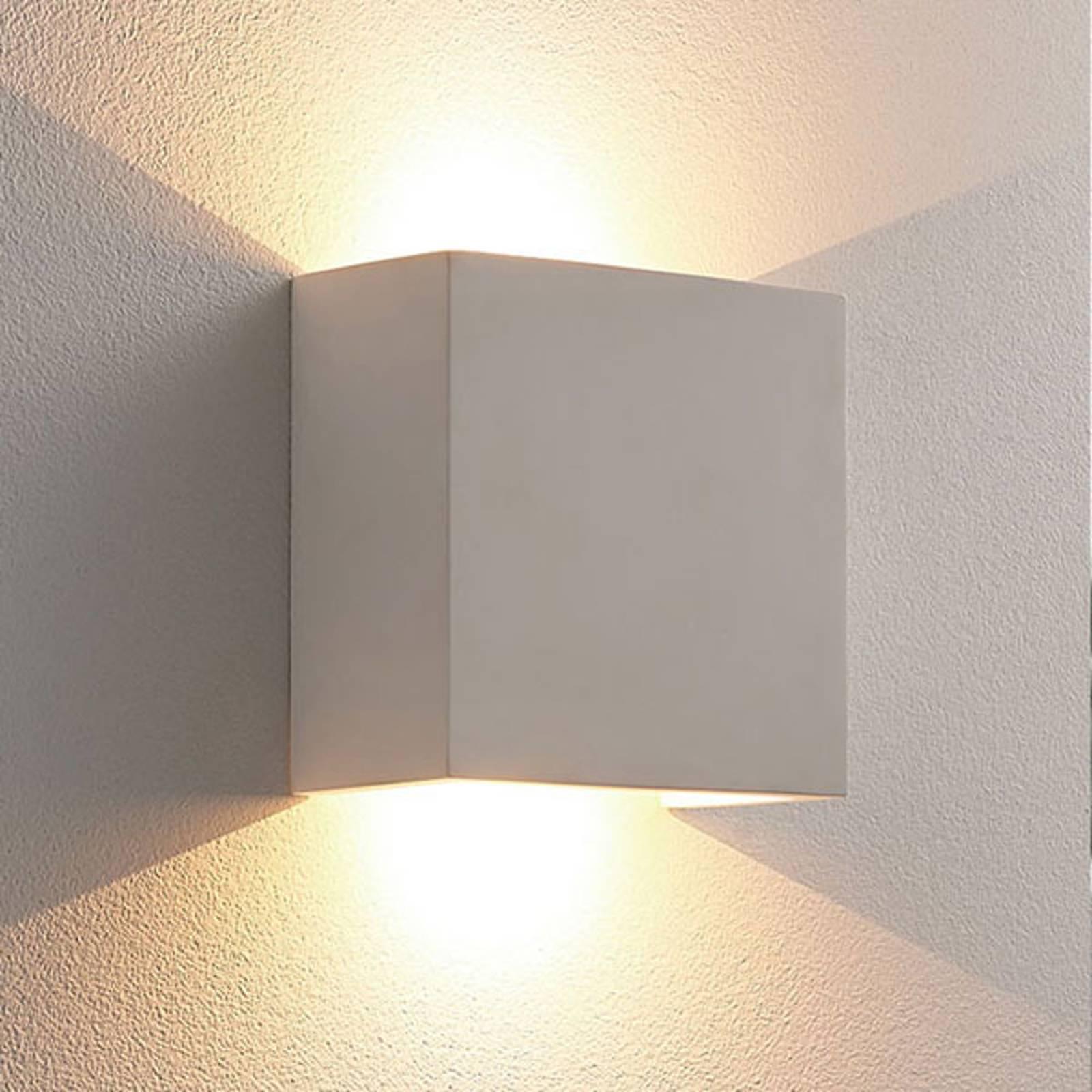 Anneke - valkoinen LED-seinävalaisin, kipsiä