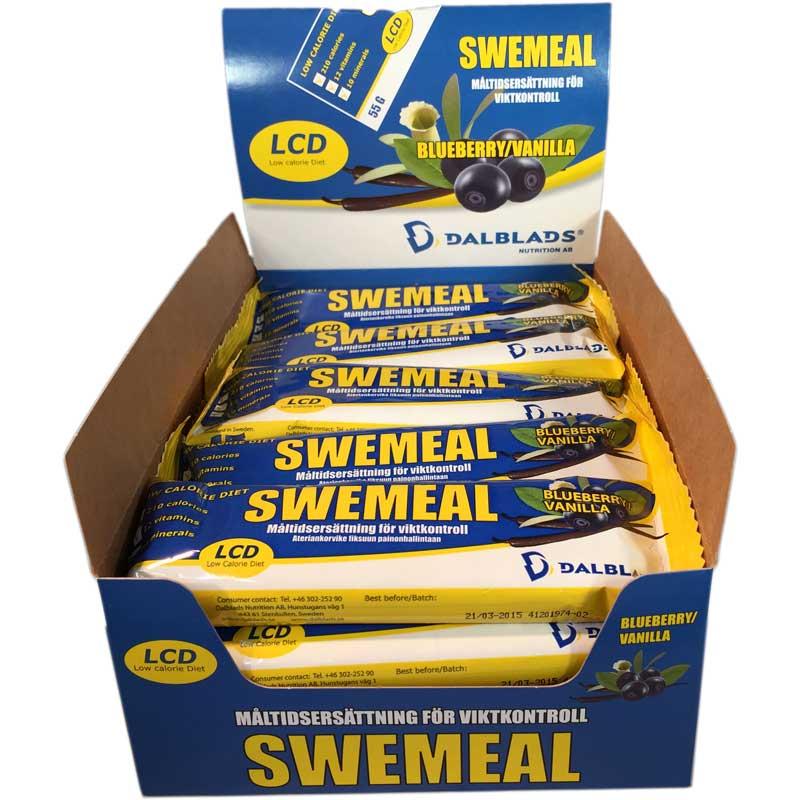 20-pack Swemeal Blåbär/vanilj - 75% rabatt