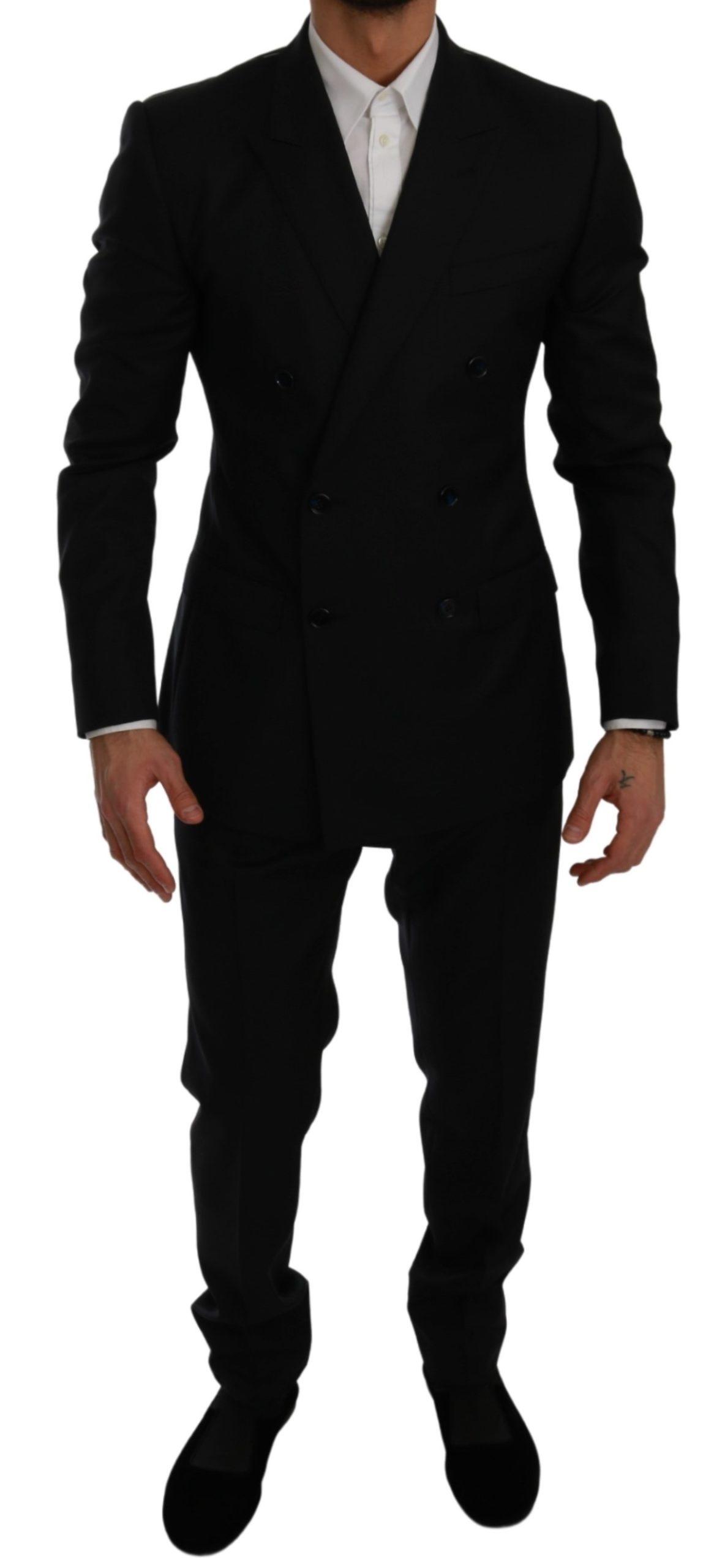 Dolce & Gabbana Men's Slim Fit 2 Piece MARTINI Suit Blue KOS1761 - IT48   M