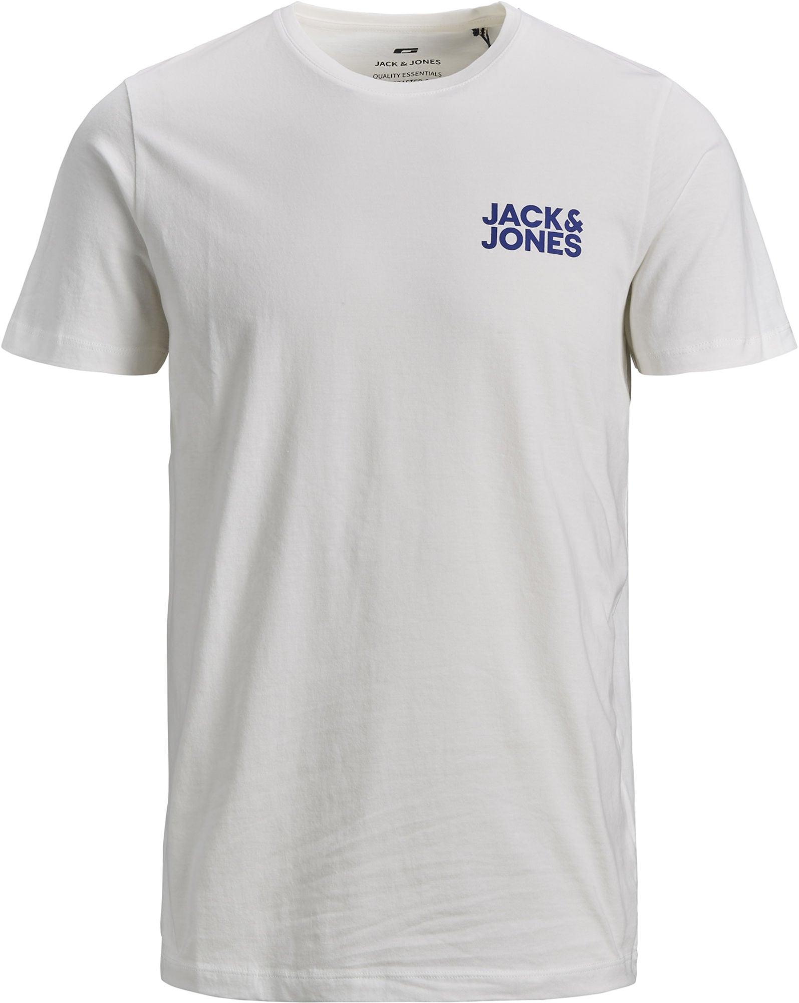 Jack & Jones Corp Crewneck T-Shirt, Cloud Dancer 128
