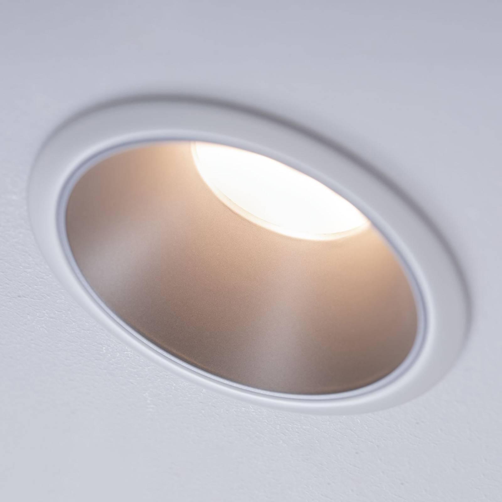Paulmann Cole LED-Spotlight, hopea-valkoinen