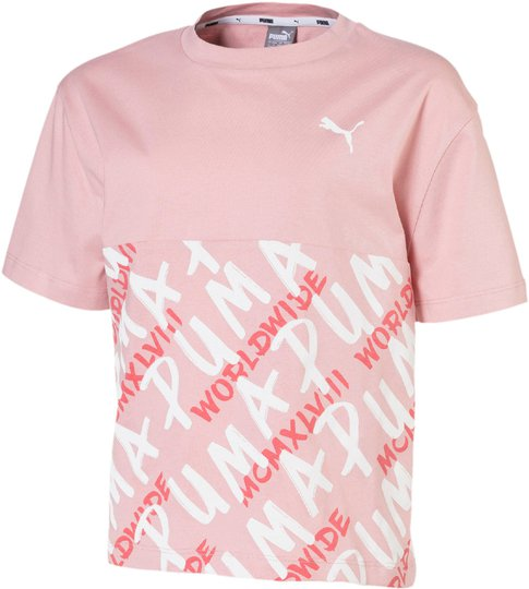 Puma Alpha Aop T-Shirt, Pink 110