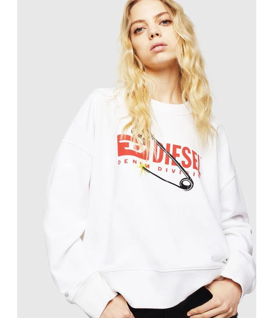 Diesel Women's Sweatshirt Various Colours 298725 - white XS