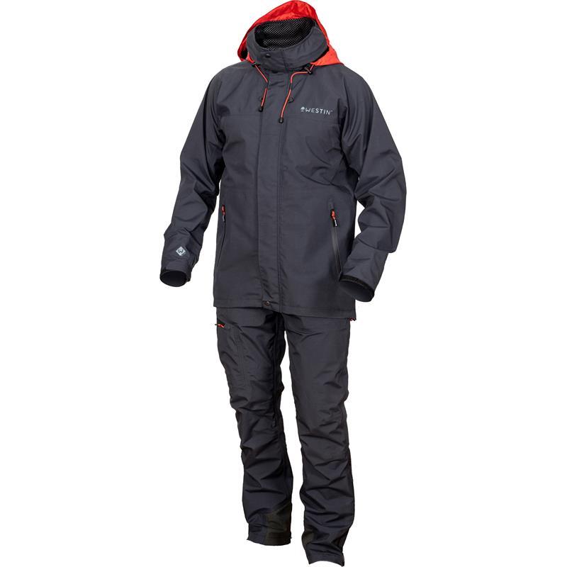 Westin W6 Rain Suit XXL Regntøy - Steel Black