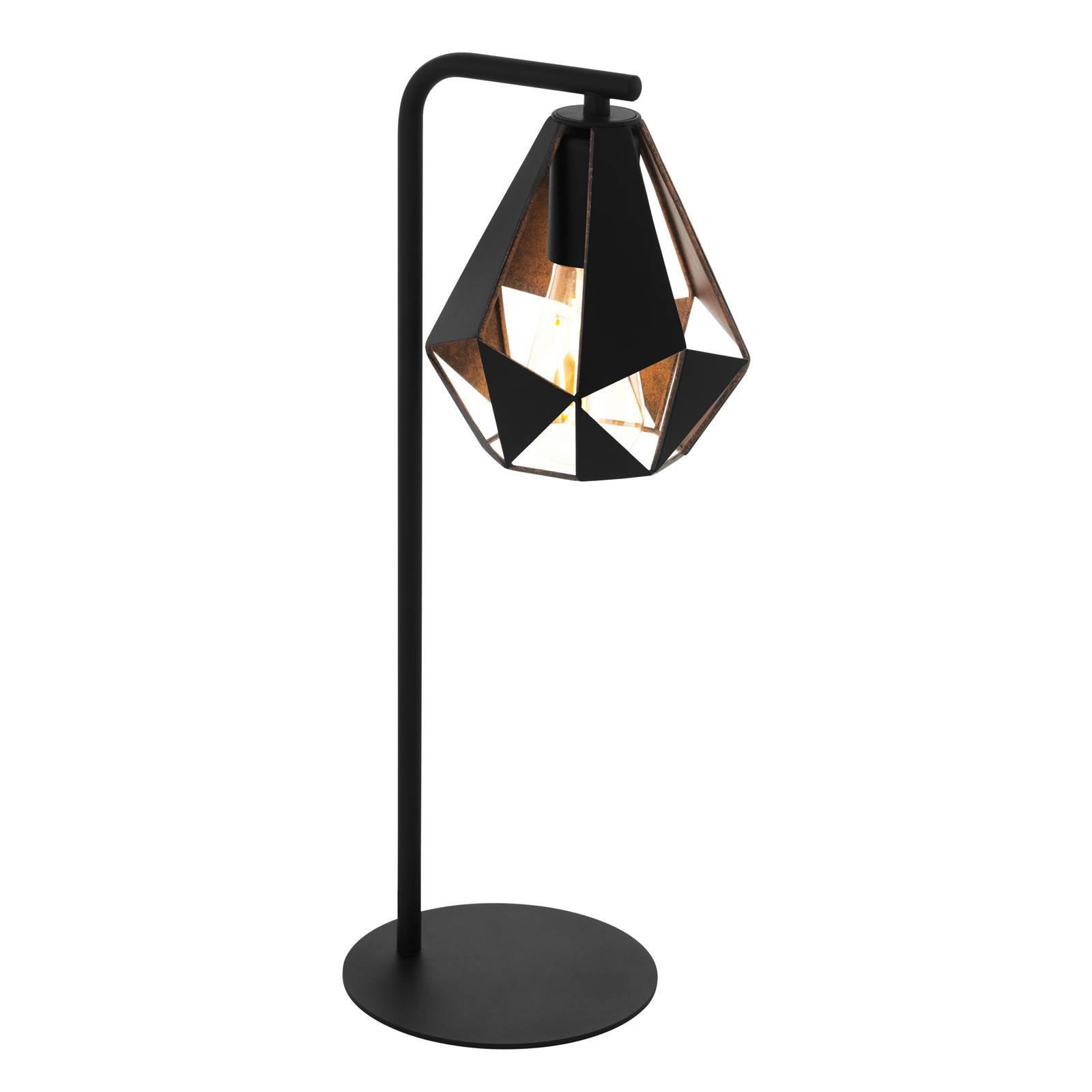Bordlampe Carlton 4 i svart/kobber
