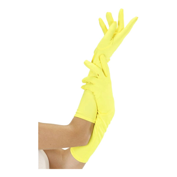 Långa Neongula Handskar