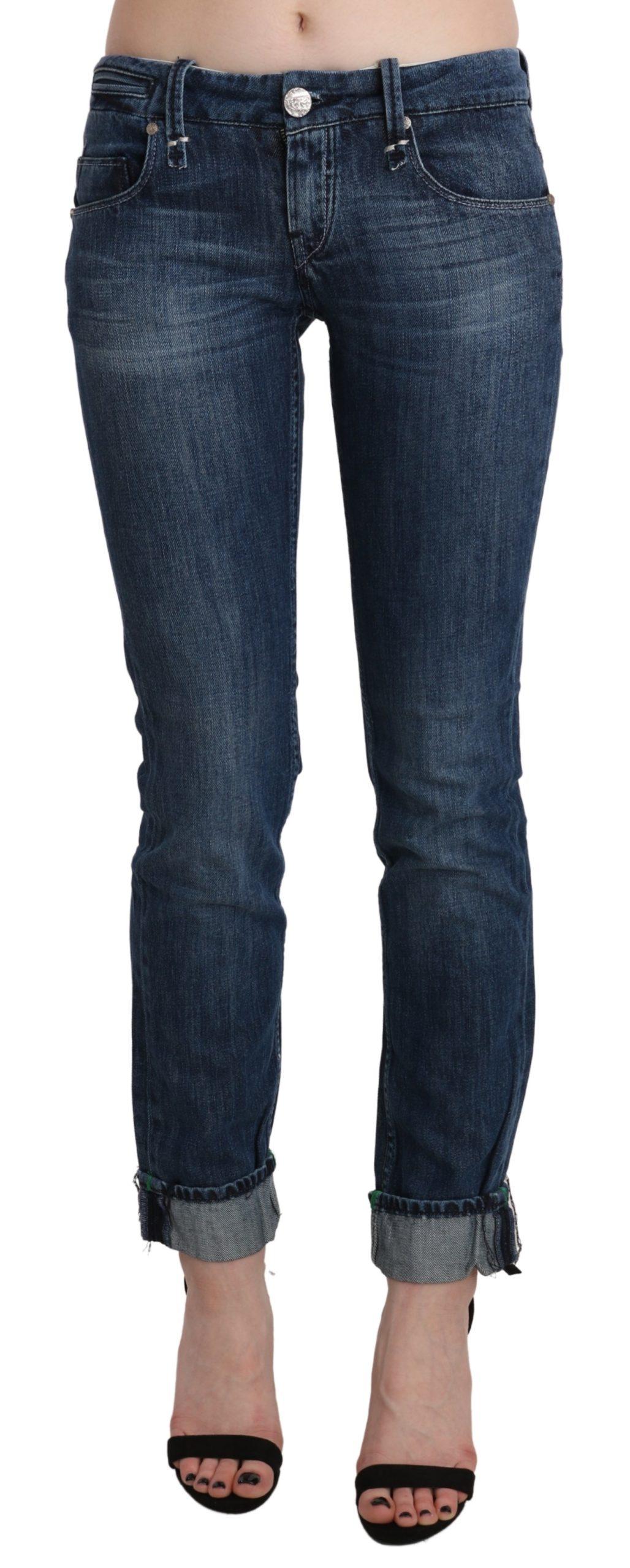 Blue Washed Low Waist Skinny Denim Trouser - W26