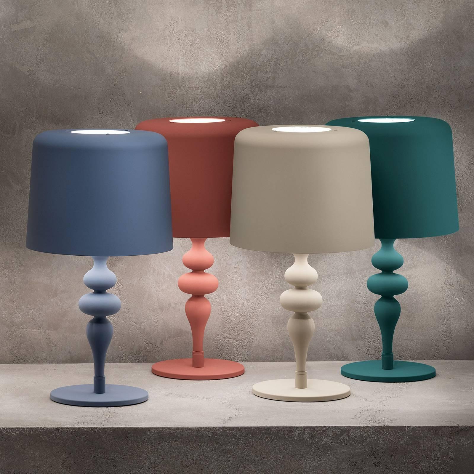 Pöytälamppu Eva TL1 M, korkeus 53 cm, sininen