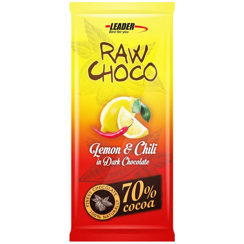 "Mörk Choklad ""Lemon & Chili"" 80g - 74% rabatt"