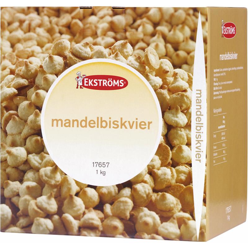 Hel Låda Mandelbiskvier 1kg - 73% rabatt
