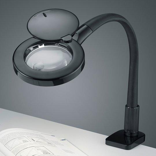 LED-klipsilamppu Lupo, musta