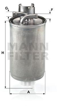 Polttoainesuodatin MANN-FILTER WK 829