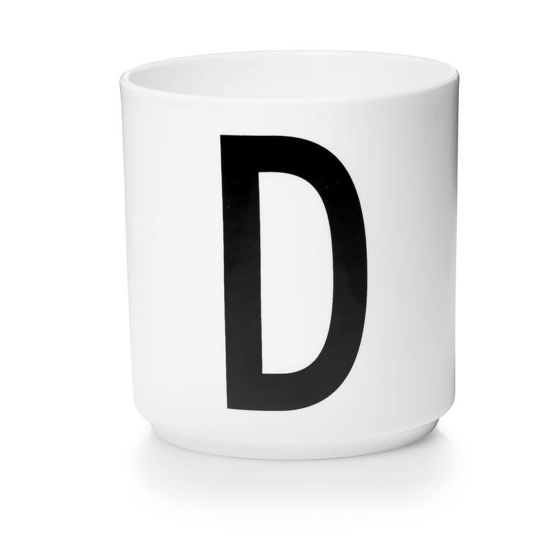 Design Letters - Personal Porcelain Cup D - White