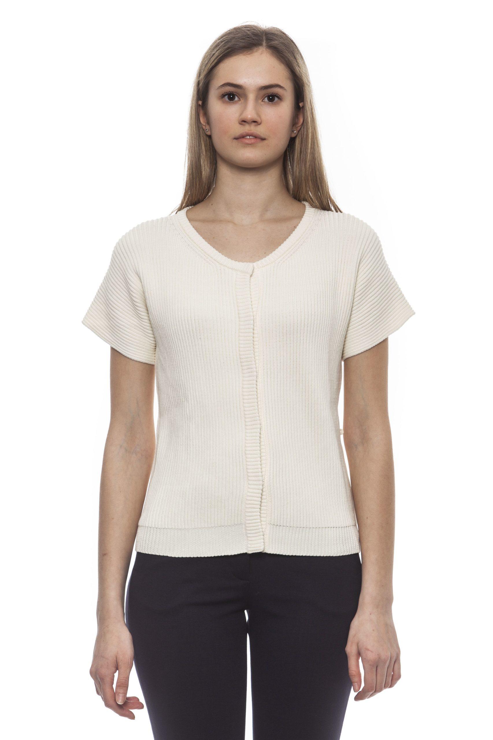 Peserico Women's Bianco Sweater White PE1383071 - IT42 | S