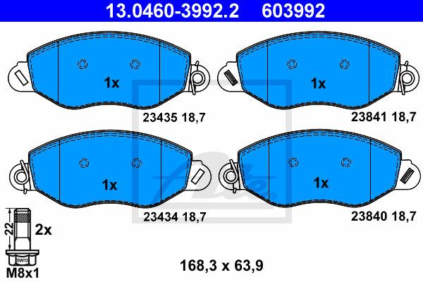 Jarrupalasarja, levyjarru ATE 13.0460-3992.2