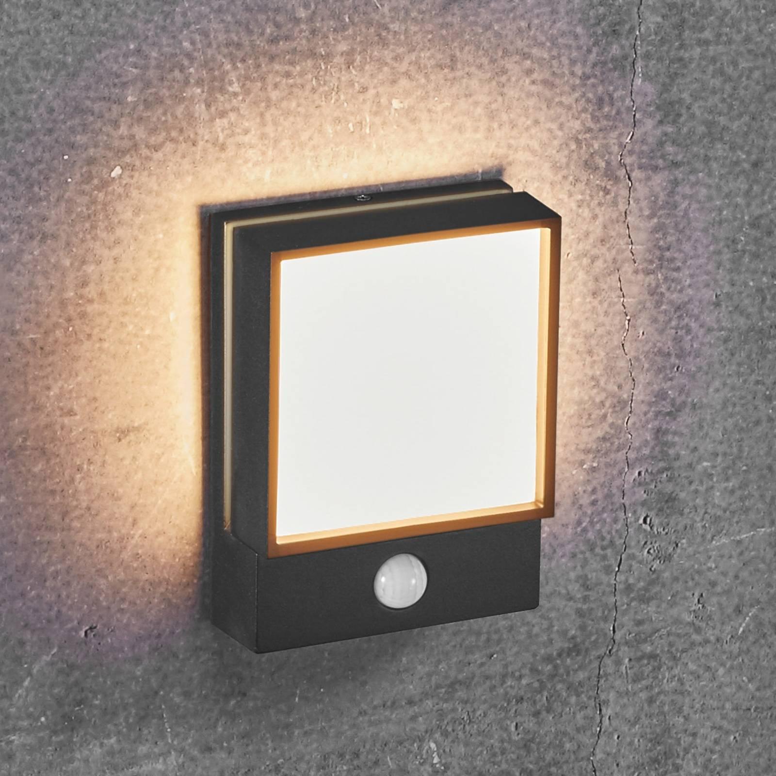 LED-ulkoseinävalaisin Egon liiketunnistimella