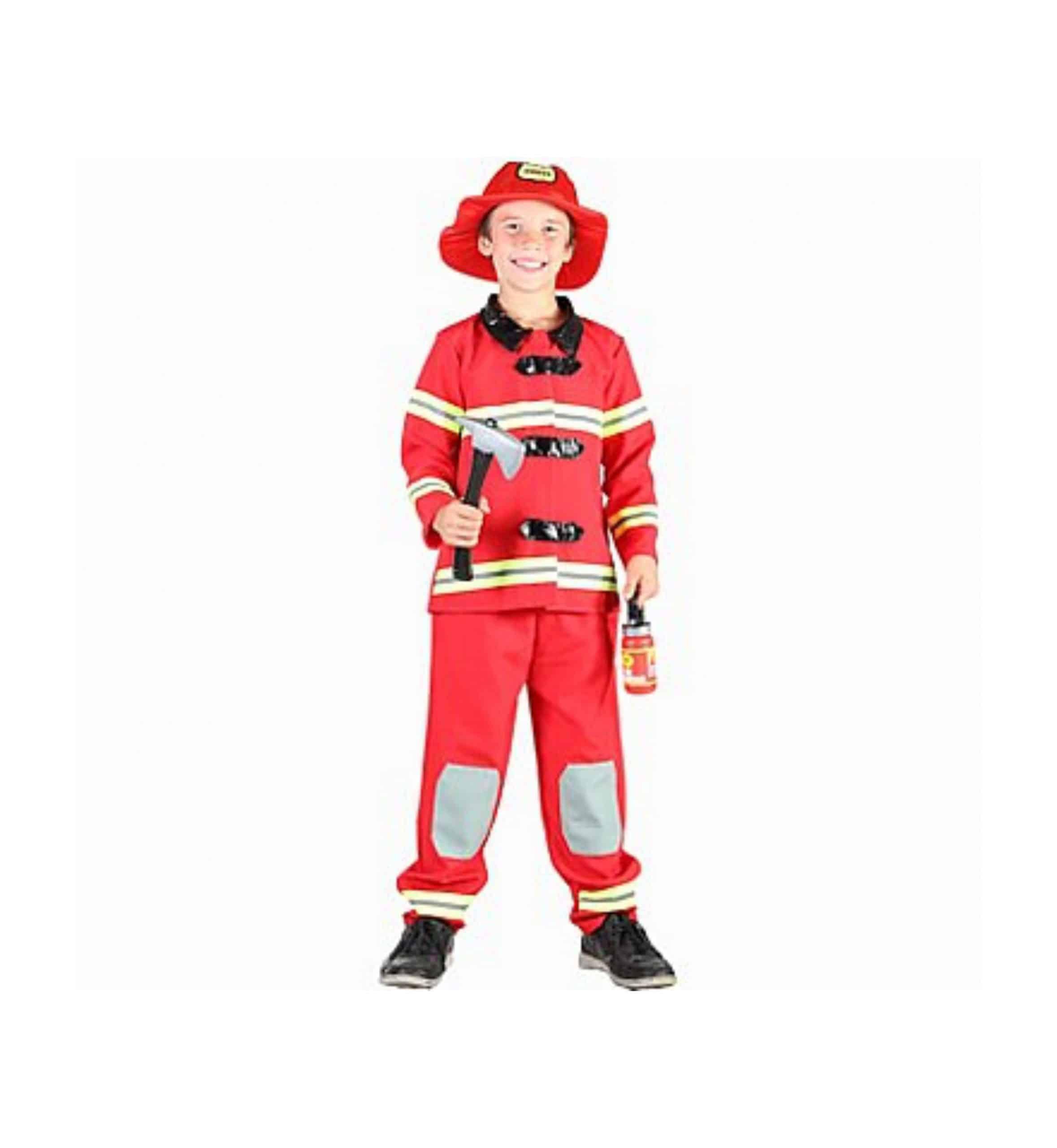 Brandman maskeraddräkt barn 120-130