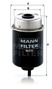 Polttoainesuodatin MANN-FILTER WK 8173