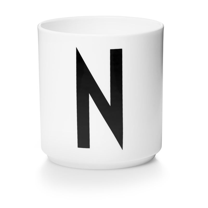 Design Letters - Personal Porcelain Cup N - White