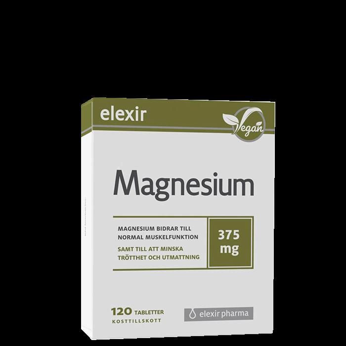 Elexir Magnesium 375 mg, 120 tabletter