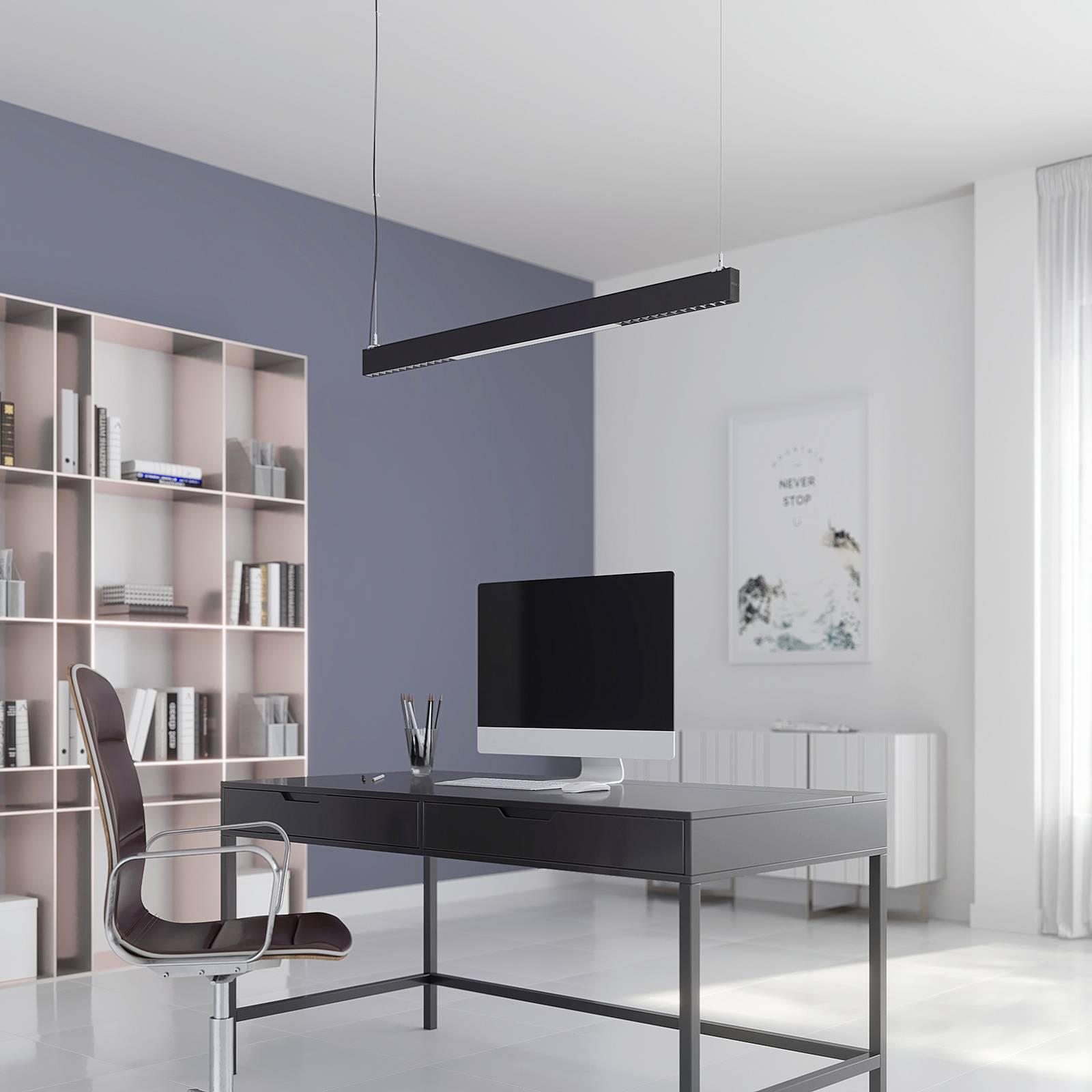 Arcchio Ingura-LED-riippuvalaisin toimistoon hopea
