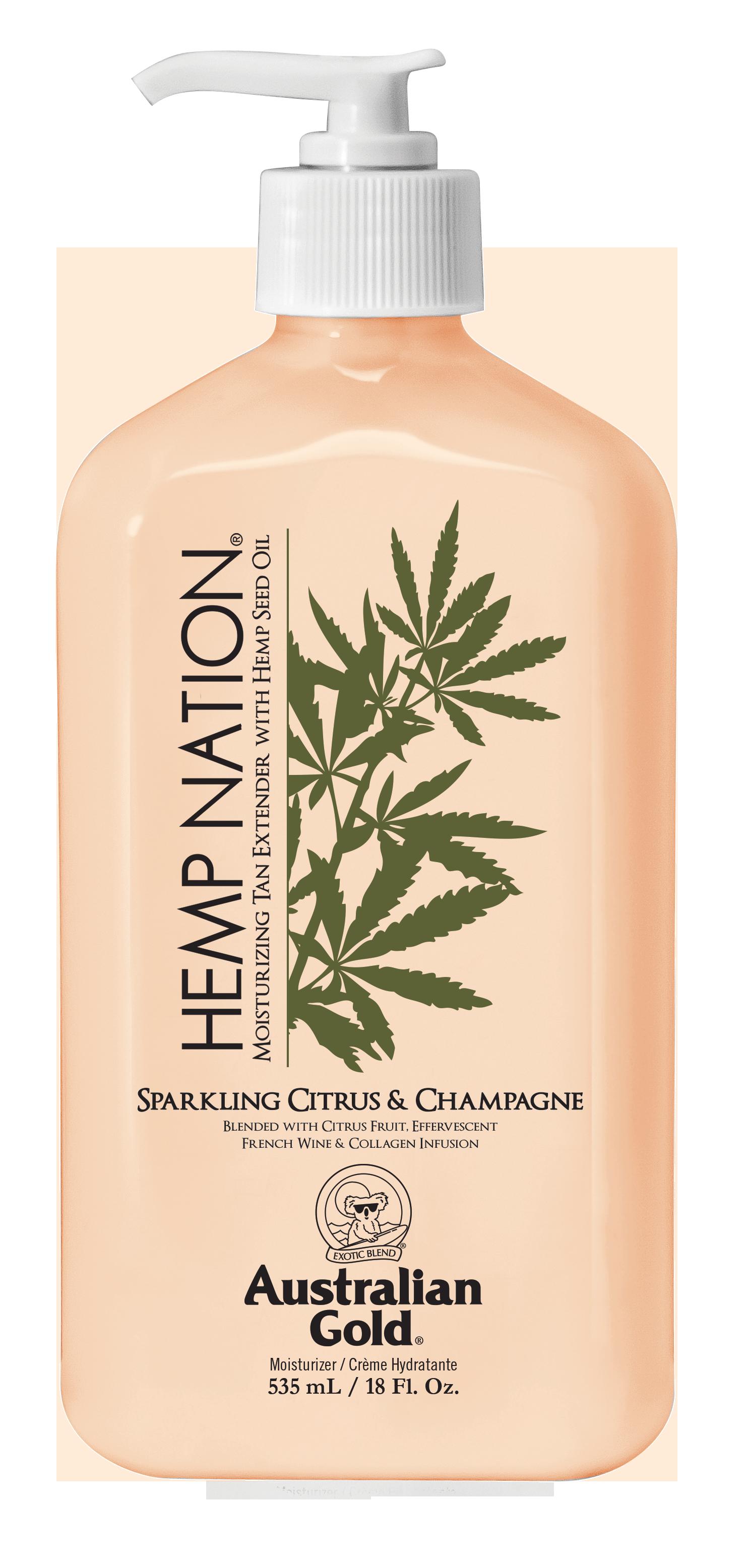 Australian Gold - Hemp Nation Sparkling Citrus & Champagne Tan Extender Body Lotion 535 ml