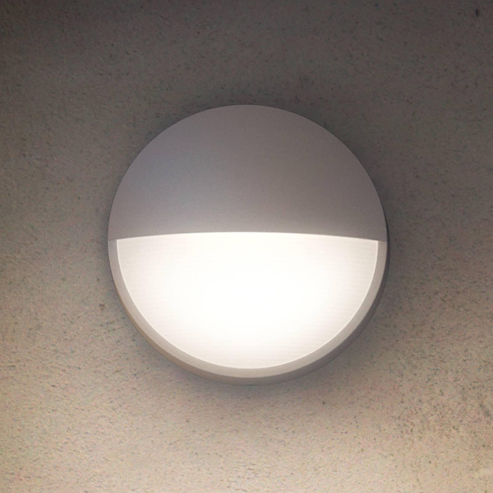 Pyöreä Capricorn-ulkoseinävalaisin LED-valolla