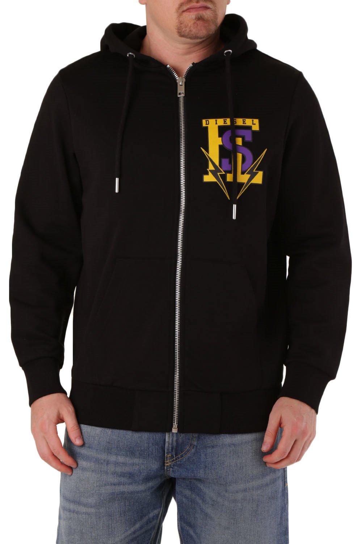 Diesel Men's Sweatshirt Black 294056 - black-1 S