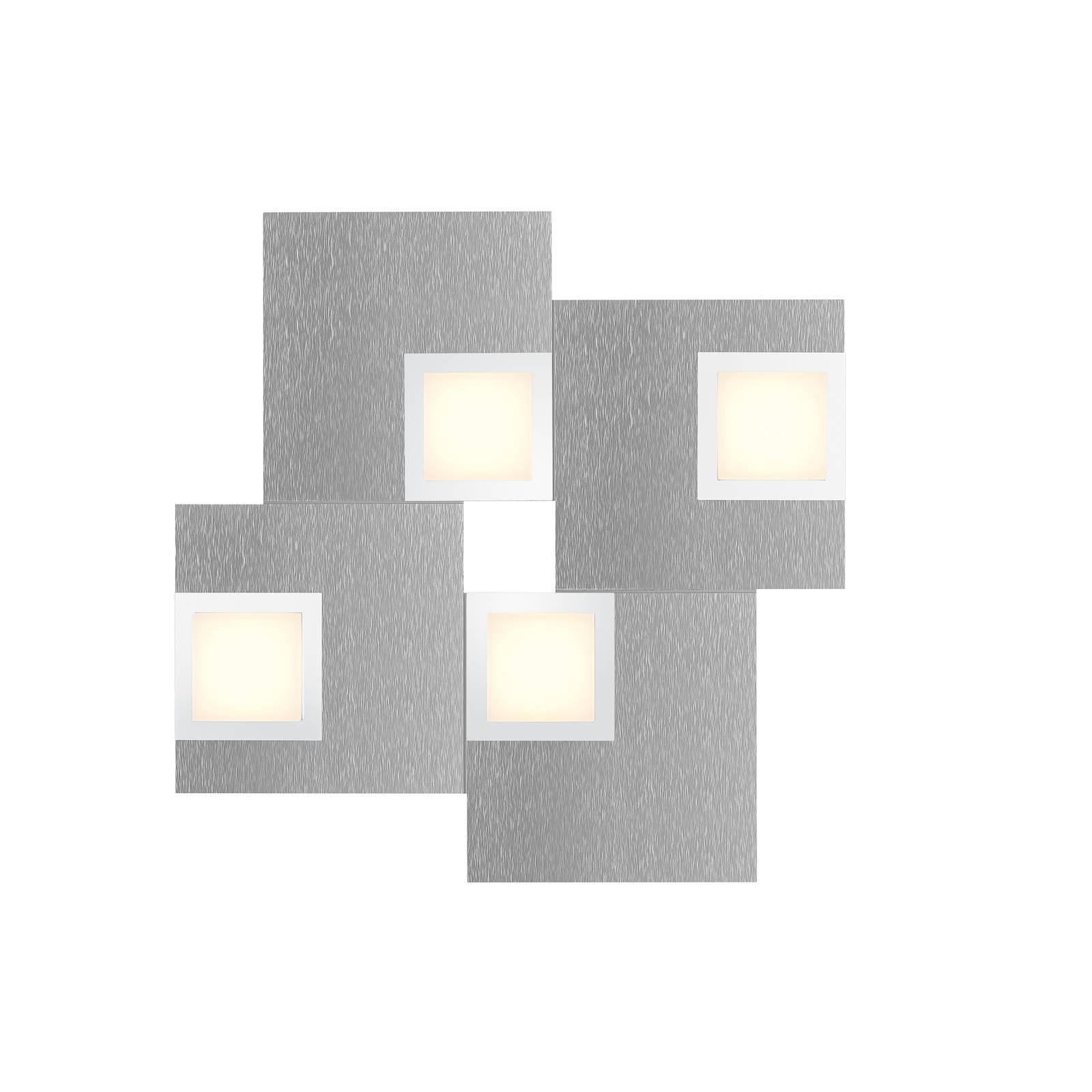 BANKAMP New Quadro taklampe 4-lk. aluminium