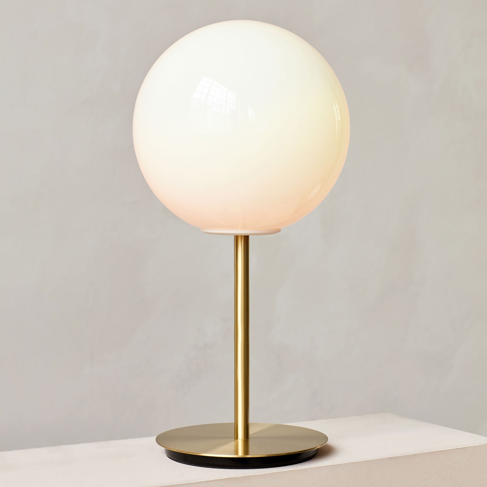 Menu TR Bulb DTW bordla. 41 cm messing/opal blank