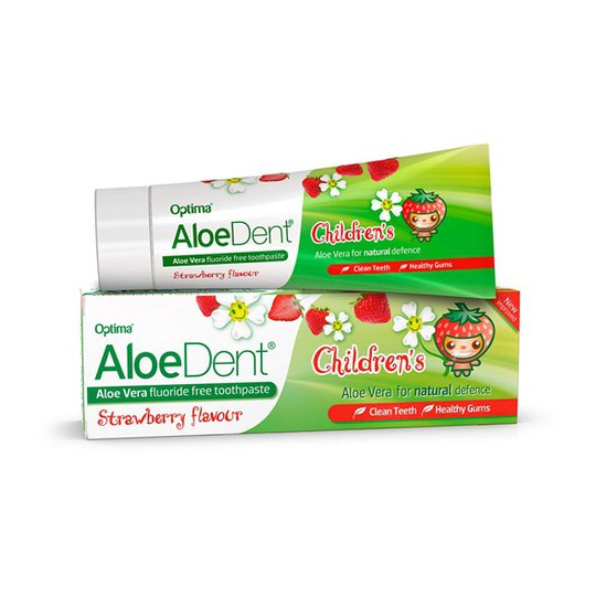 AloeDent Aloe Vera Childrens Fluoride Free Toothpaste, 50 ml