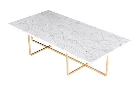 Ninety Table XL - Carrara marmor/messingstomme H40 cm