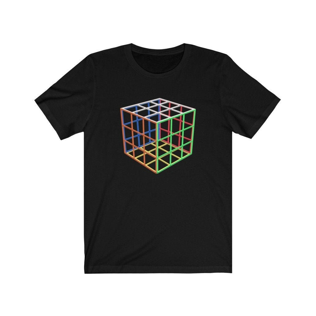 Invisible Cube - Rubik's Shirt | Adult Sizes Soft Cotton T-Shirt, Fun Gift, Multiple Colors Available