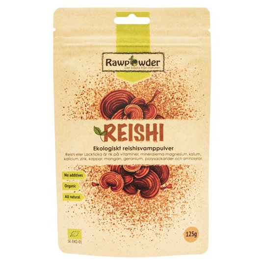 Rawpowder Ekologiskt Reishisvamppulver, 125 g