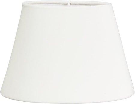Lampeskjerm Oval Fløyel Hvit
