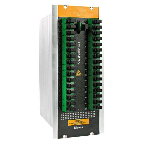 Televes 234601 Optisk splitter med SC/APC-tilkobling 32-veis