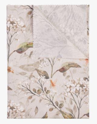 Florals Pintakäsitelty pöytäliina moniväri/beige