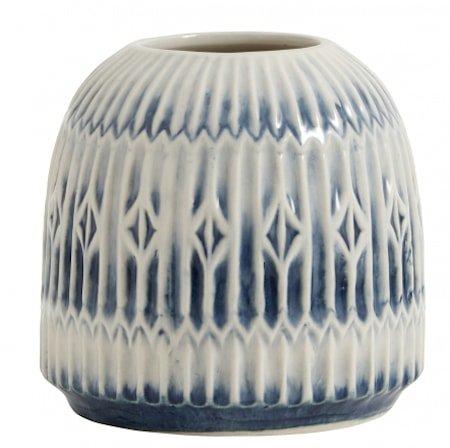Vase Blue Rill Tall - Medium
