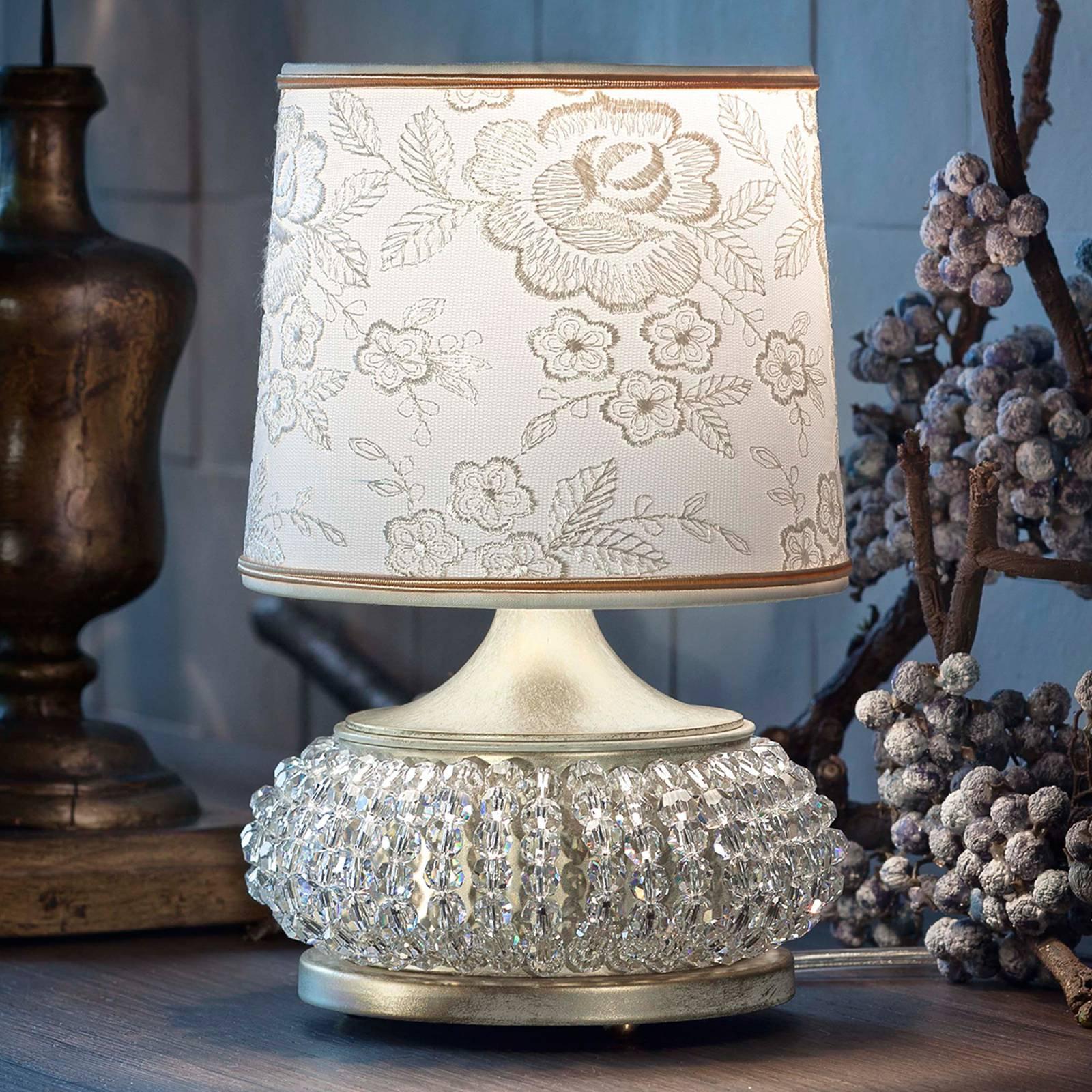 Galà bordlampe i gull og hvit