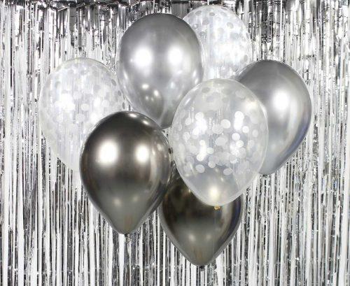 Ballongbukett silver