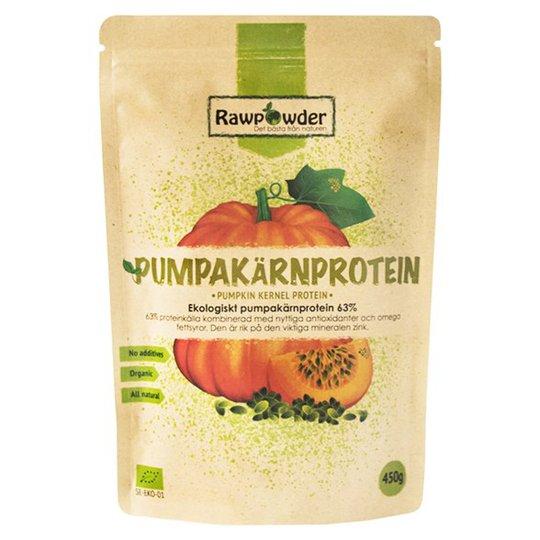Rawpowder Ekologiskt Pumpakärnprotein 63%, 450 g
