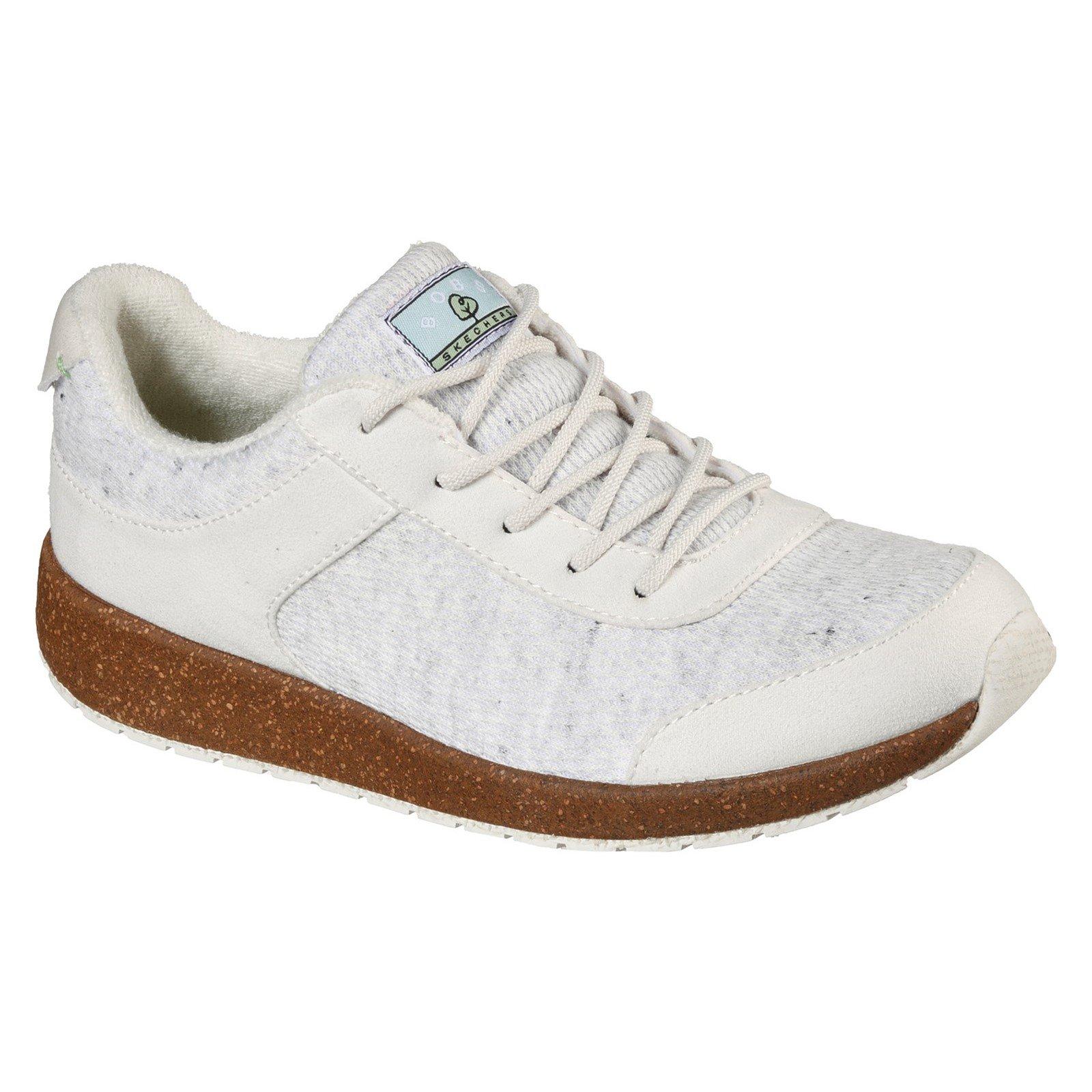 Skechers Women's Bobs Earth New Love Trainer White 32134 - Off White 6
