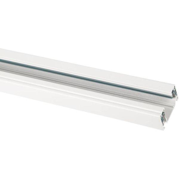 Hide-a-Lite LiteTrac Skinne 1-faset, 1 m, hvit