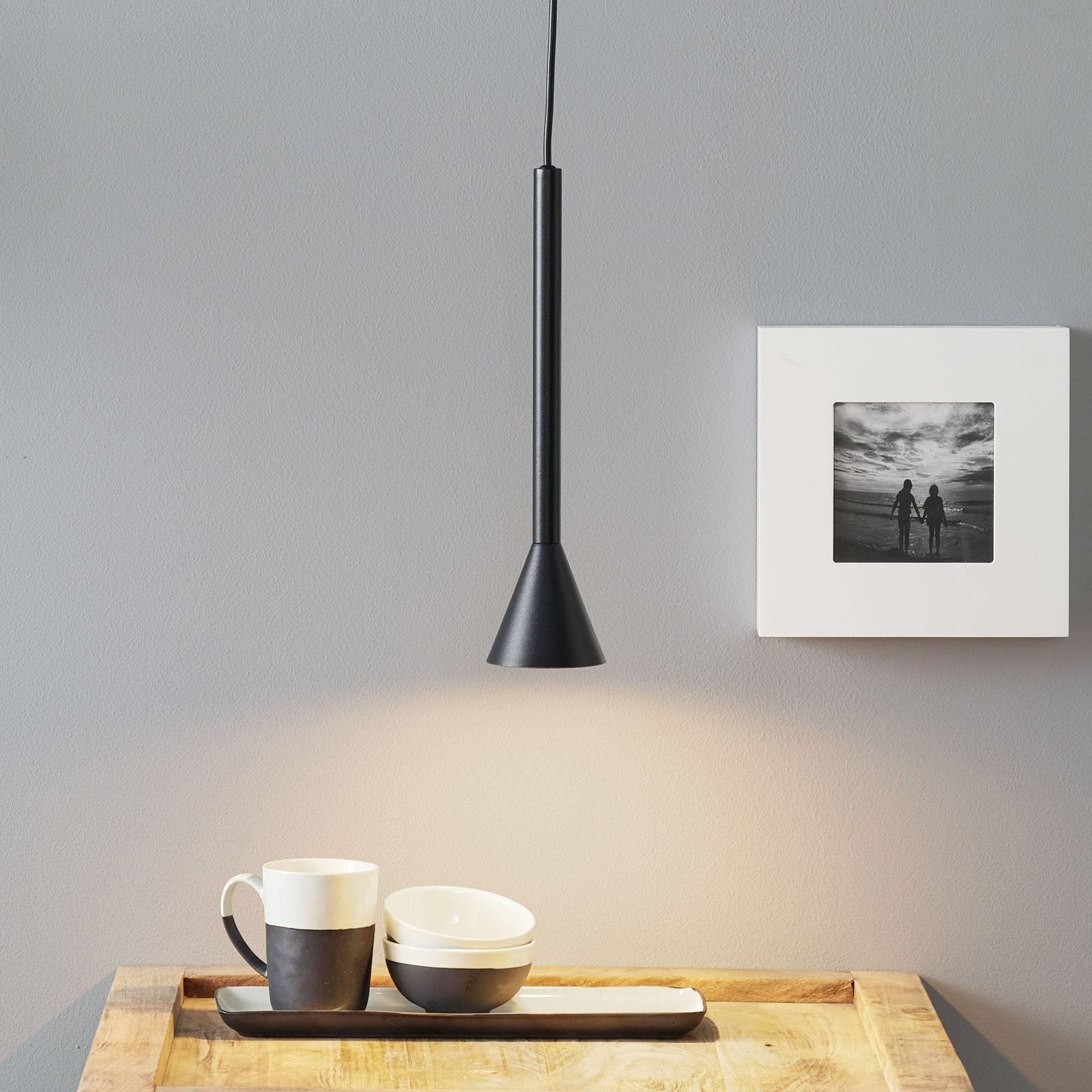 Lucande Caris -riippuvalo Ø 8,5 cm musta/kulta