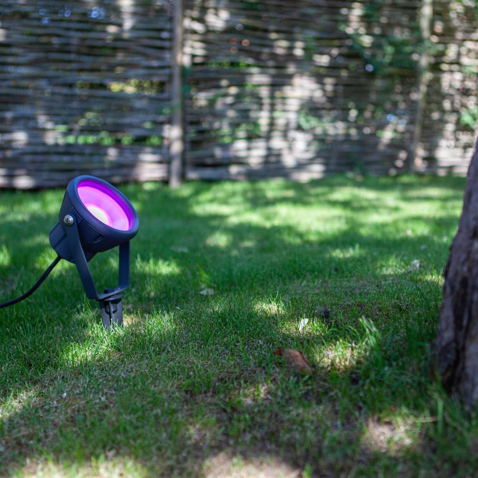 LED-maapiikkivalo Mini Leto, RGBW, älykäs ohjaus