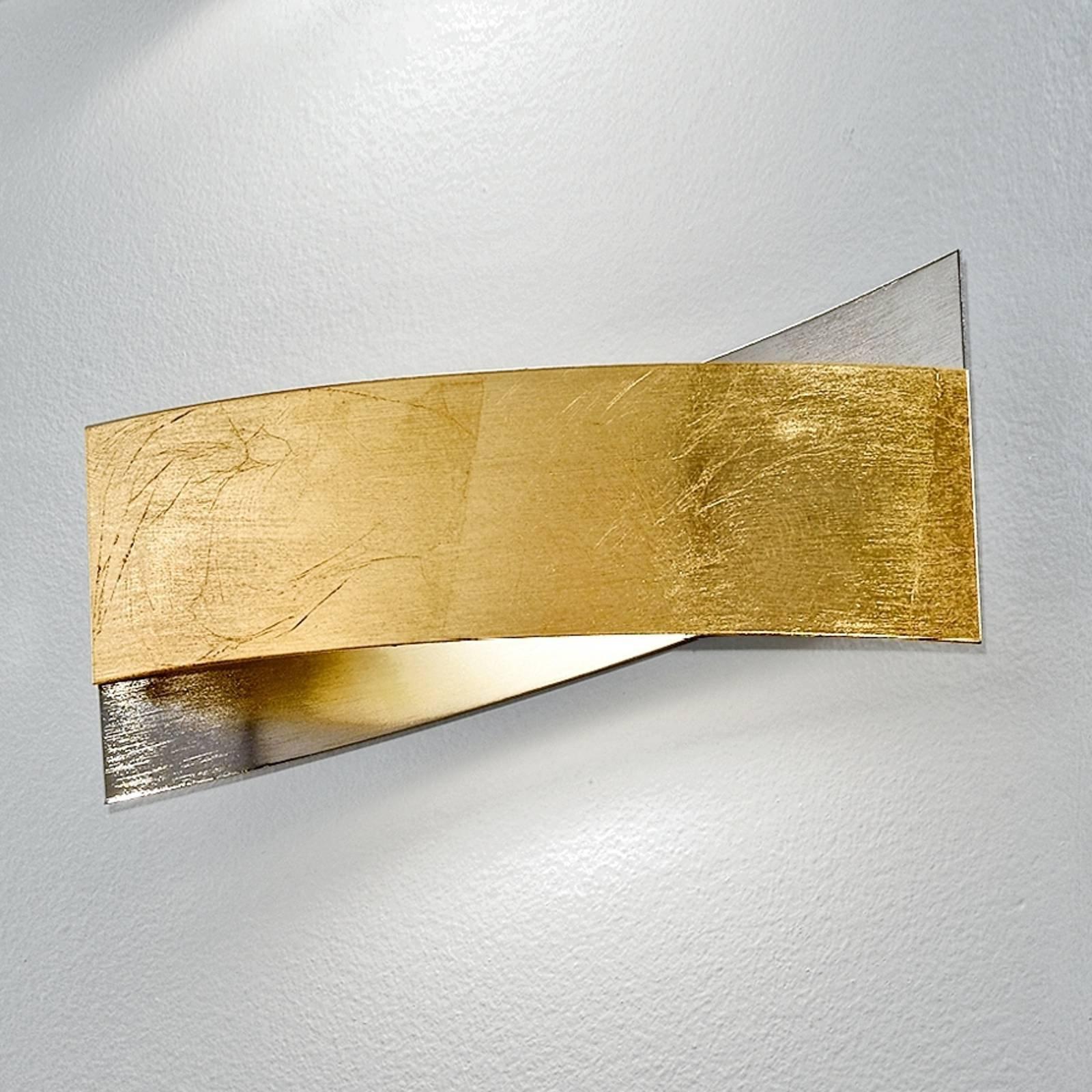 Meget vakker ARLESTRA vegglampe i gull