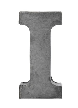 Bokstav i 5,5 cm - Zinc
