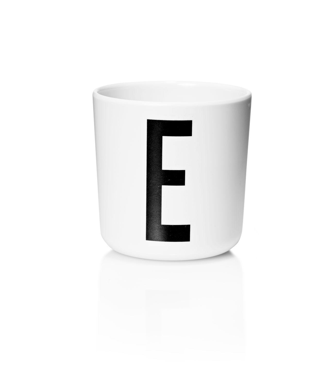 Design Letters - Personal Melamine Cup E - White (20201000E)