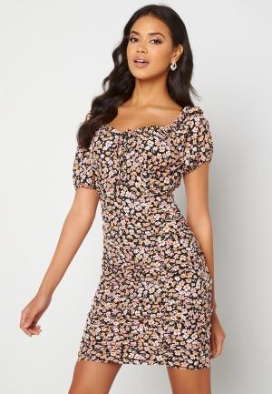 ONLY Fuchsia S/S Short Dress Black Ranch Floral XL